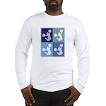 Cheerleading (blue boxes) Long Sleeve T-Shirt
