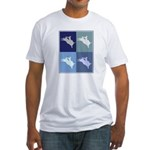 Bullriding (blue boxes) Fitted T-Shirt