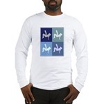 Breakdancing (blue boxes) Long Sleeve T-Shirt
