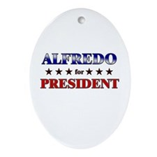 ALFREDO for president Oval Ornament