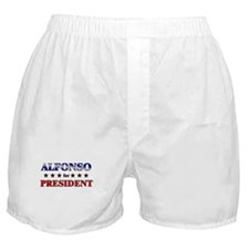 ALFONSO for president Boxer Shorts