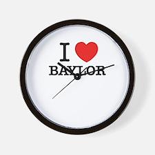 I Love BAYLOR Wall Clock