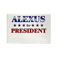 ALEXUS for president Rectangle Magnet