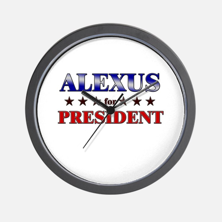 ALEXUS for president Wall Clock