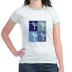 Ballerina (blue boxes) Jr. Ringer T-Shirt