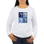 Ballerina (blue boxes) Women's Long Sleeve T-Shirt