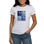 Ballerina (blue boxes) Women's T-Shirt