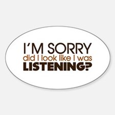 Listening Oval Decal