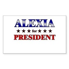 ALEXIA for president Rectangle Decal