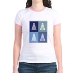 Badminton (blue boxes) Jr. Ringer T-Shirt