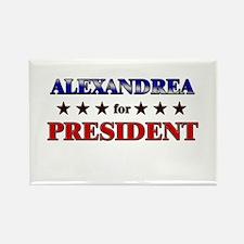 ALEXANDREA for president Rectangle Magnet