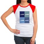 Auto Racing (blue boxes) Women's Cap Sleeve T-Shir