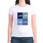 Auto Racing (blue boxes) Jr. Ringer T-Shirt