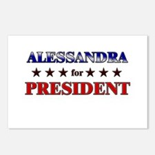 ALESSANDRA for president Postcards (Package of 8)