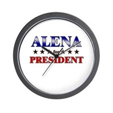 ALENA for president Wall Clock