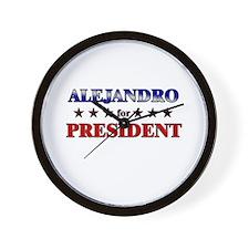 ALEJANDRO for president Wall Clock