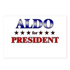 ALDO for president Postcards (Package of 8)