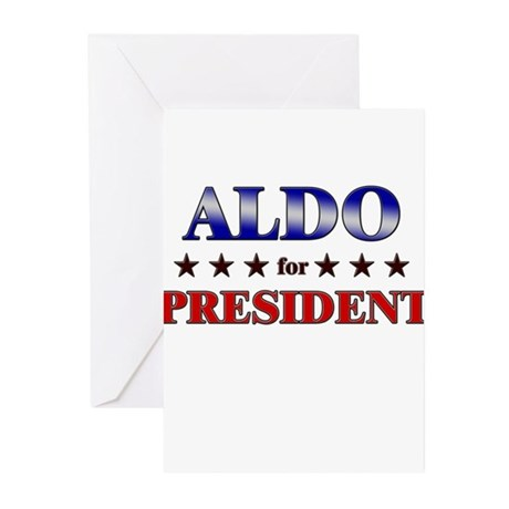 ALDO for president Greeting Cards (Pk of 20)