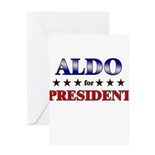 ALDO for president Greeting Card