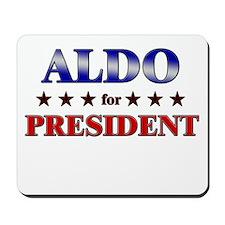 ALDO for president Mousepad