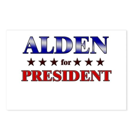 ALDEN for president Postcards (Package of 8)