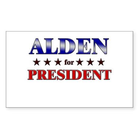 ALDEN for president Rectangle Sticker
