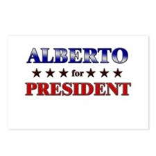 ALBERTO for president Postcards (Package of 8)