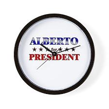 ALBERTO for president Wall Clock