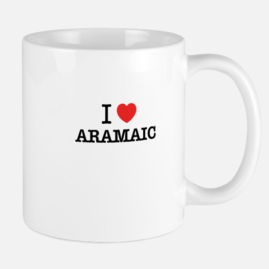 I Love ARAMAIC Mugs