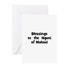 Blessings  to  the  Ngoni of  Greeting Cards (Pk o