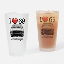 69 Mustang Drinking Glass