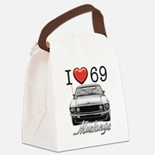 69 Mustang Canvas Lunch Bag