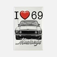 69 Mustang Rectangle Magnet