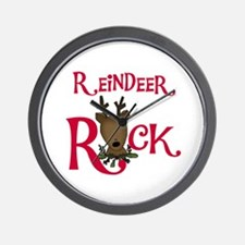 Reindeer Rock Wall Clock