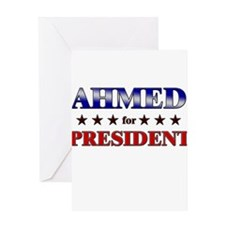 AHMED for president Greeting Card