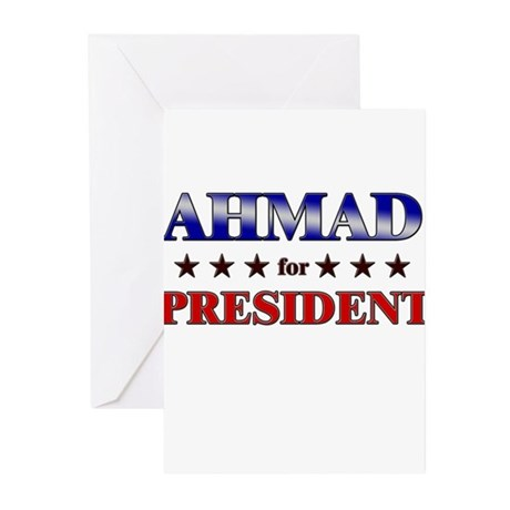 AHMAD for president Greeting Cards (Pk of 20)