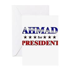 AHMAD for president Greeting Card