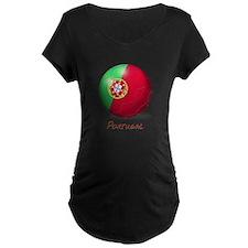 Portugal Flag Soccer Ball T-Shirt