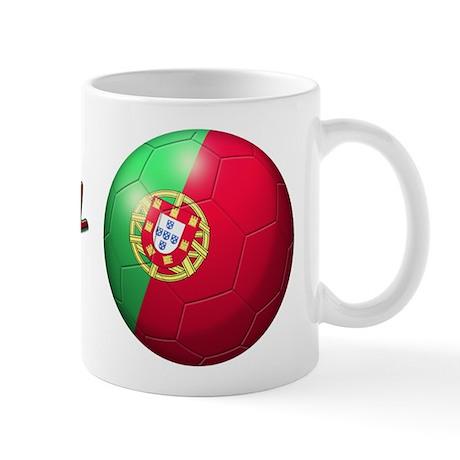 Portugal Flag Soccer Ball Mug