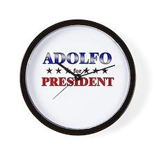 ADOLFO for president Wall Clock
