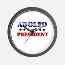 ADOLFO for president Wall Clock