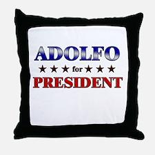 ADOLFO for president Throw Pillow