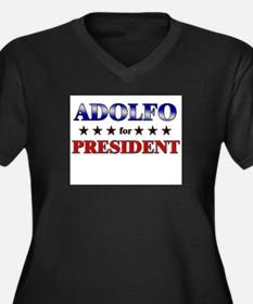 ADOLFO for president Women's Plus Size V-Neck Dark