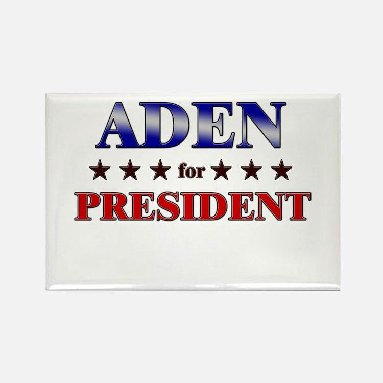 ADEN for president Rectangle Magnet