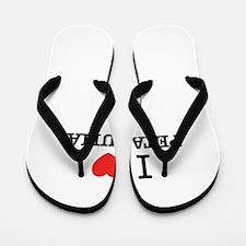 I Love PETALUMA Flip Flops