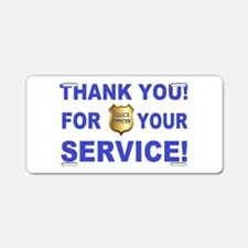 Police Officer Thank You Aluminum License Plate