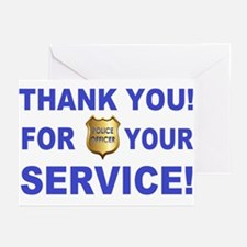 Police Officer Thank You Greeting Cards (Pk of 20)