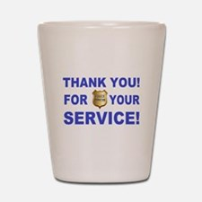 Police Officer Thank You Shot Glass