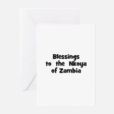Blessings  to  the  Nkoya of  Greeting Cards (Pk o