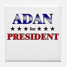 ADAN for president Tile Coaster